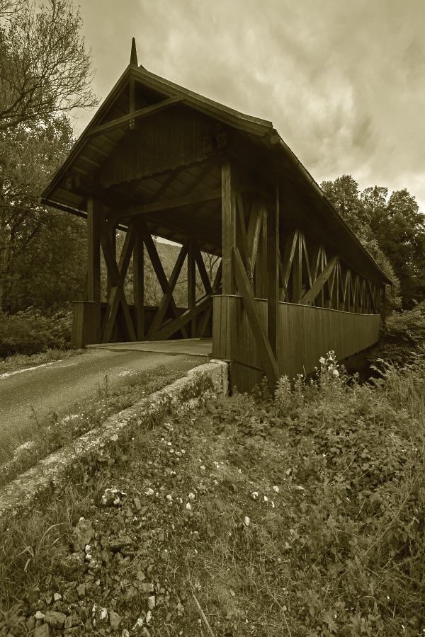 Celodrevený most - Kluknava